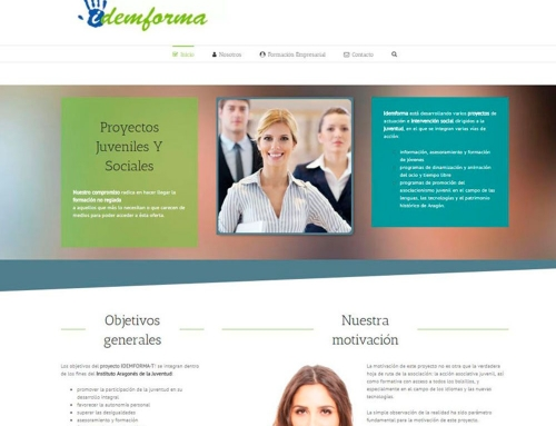 Idemforma web corporativa diseñada por MarketReal