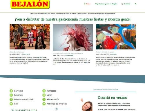Web diseñada para Bejalón Distribuciones