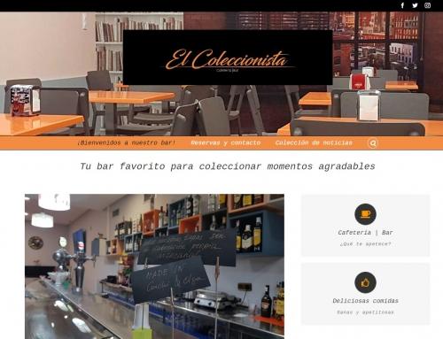 Bar El Coleccionista, web diseñada por MarketReal