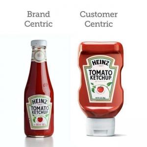 La marca corporativa, siempre centrada en el cliente.