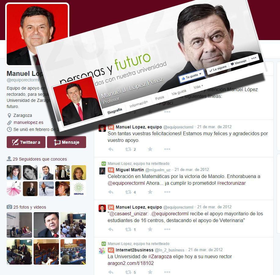Estrategia en redes sociales para el rector Dr. Manuel López